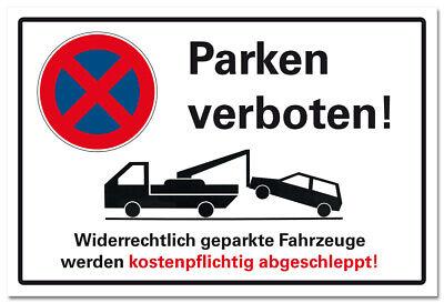 3mm Halteverbot Schild Parken verboten Parkverbot Hinweis Hartschaum 30x20cm