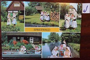 Carte Postale Vue Carte Brandebourg Spreewald-afficher Le Titre D'origine Blanc De Jade