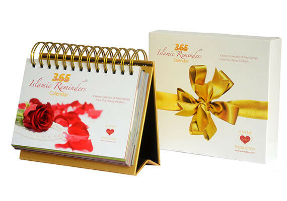 365 Day-To-Day Islamic Daily Reminders Calendar with Deen Message Gift 4 Family