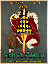 VEUVE AMIOT, 1922 by Cappiello Vintage French Wine Giclee Canvas Print 30x40