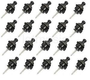 20X-Black-Schaller-Style-Strap-Locks-For-Fender-Guitar-Guitar-Bass-Replacement