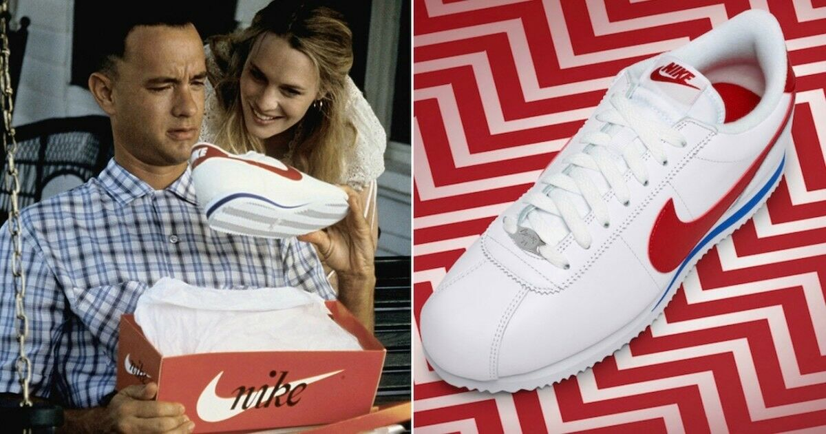 Nike Cortez Basic Leather OG QS FORREST GUMP UK GB LONDON White Red Blue Sz 10 Seasonal price cuts, discount benefits