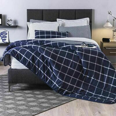 DCP Comforter Set Zebra Pattern Quilt Set Blue,Warm and Soft Reversible Twin