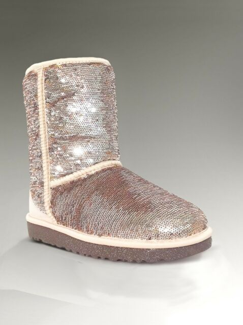 95ed4500b2a UGG Australia Champagne Women's Classic Sparkles Short BOOTS Size US 7 EU 38