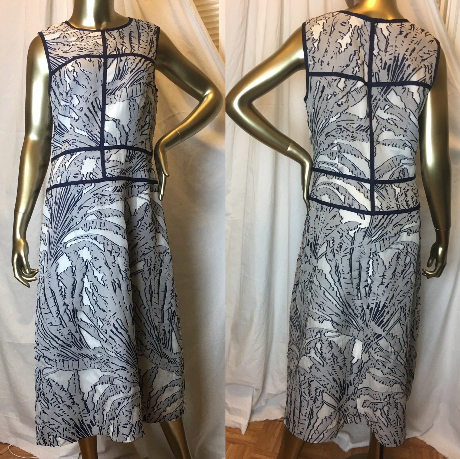 With tags Lafayette 148 New York Damaris Palm Fil Coupe Dress Size 8 MSRP  798