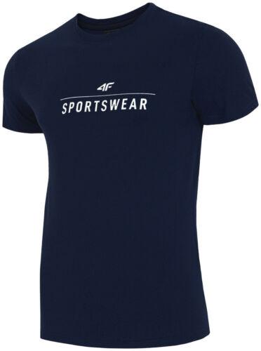 4F Herren T-shirt Kurzarm Rundhals Sportshirt Basic Sport Freizeit Shirt Fitness