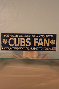 Details About Chicago Cubs Wooden Signmade In The Usa Newsealedfree Shipping In The Us