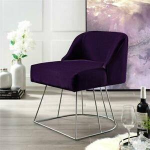 Terrific Details About Inspired Home Vinsa Velvet Vanity Stool Purple Bralicious Painted Fabric Chair Ideas Braliciousco