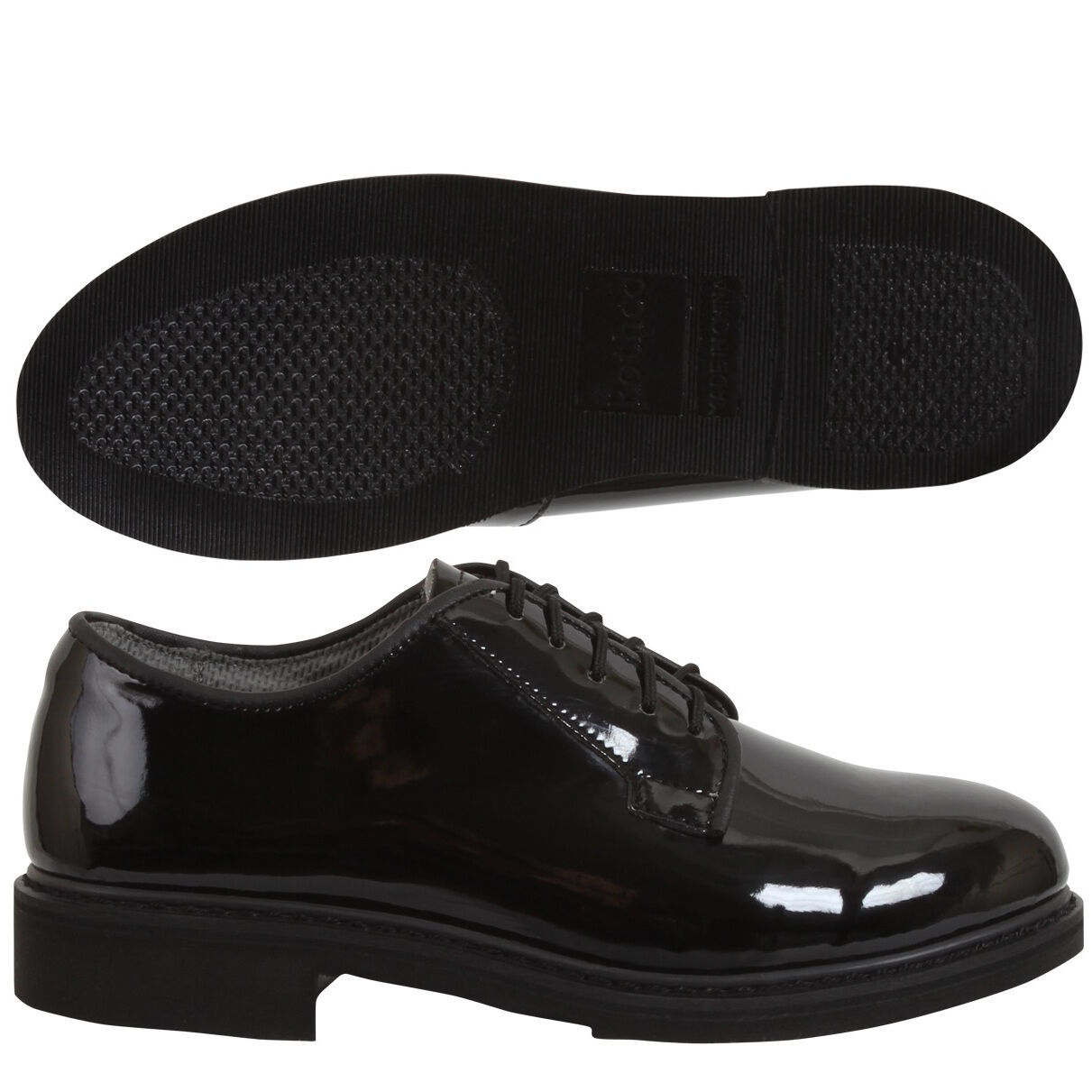 redhco High Gloss Finish Military Uniform Oxford Leather Formal shoes