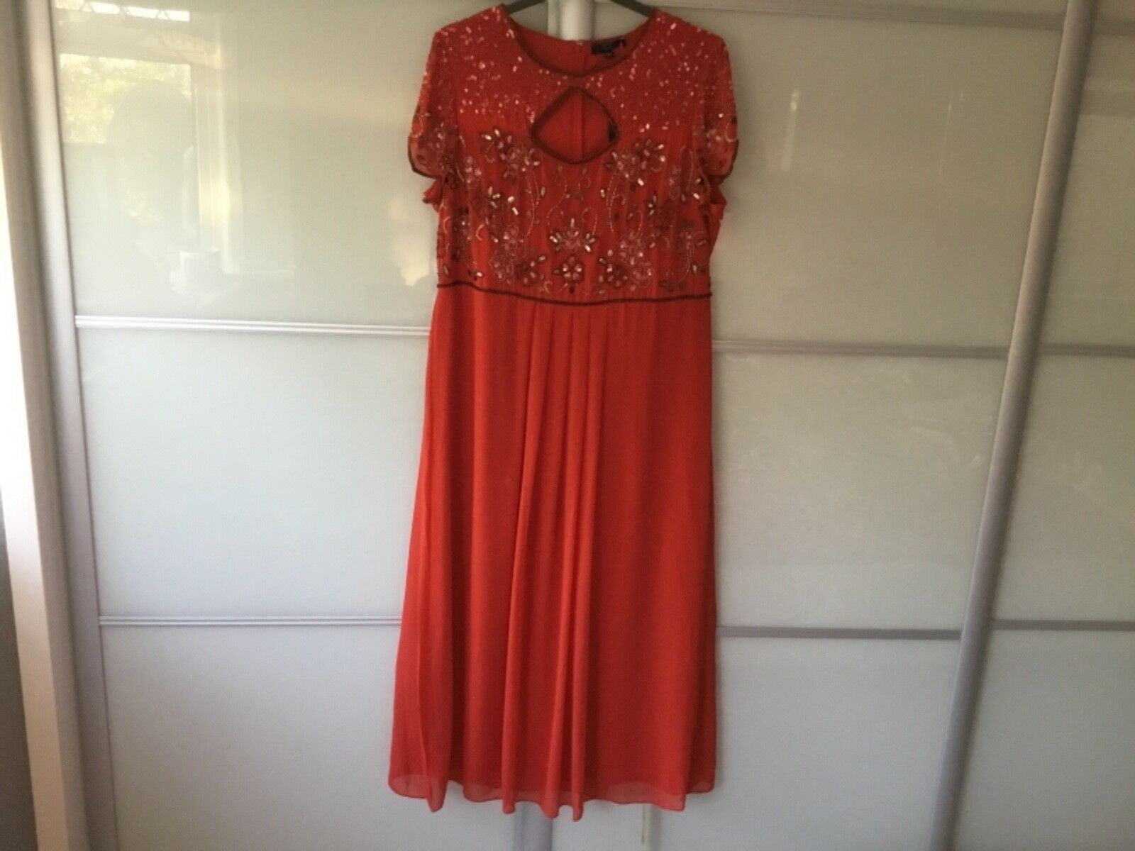 4f50f23ff3a33 Joanna hope red sequin and maxi dress size 24 bnwt embellished bead ...