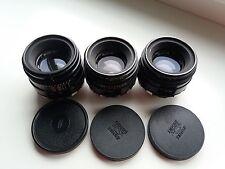 Helios 44 and Helios 44-2 Zebra Soviet lenses 3 pcs LOT M39 M42
