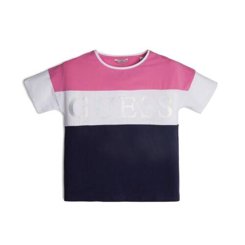 Guess Fille T-shirt j01i16 k9iy0 Rose//Bleu Top Sport Shirt Taille 140-176 NEUF