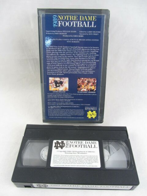 VHS - 1989 Notre Dame Football, 66 min, Narrated Don ...