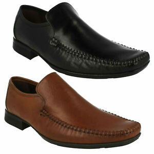 mens clarks leather slip on loafers casual formal party