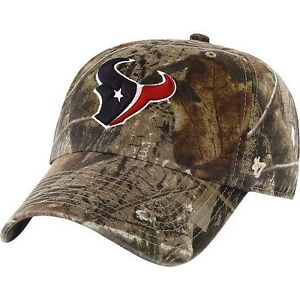 New NFL Houston Texans Camo Clean Up Mens Adjustable Realtree Cap ... 35a8fc586055