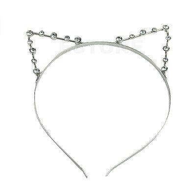 GRAU Silver/Golden Sexy Cat Ear Girl Head Band Beaded Fashion Hair Metal Band