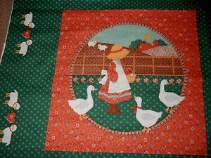 Sunbonnet sue quilt pillow fabric panel applique quilting crafts