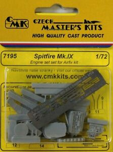 CMK-1-72-Supermarine-Spitfire-Mk-IX-Engine-Set-for-Airfix-kit-7195