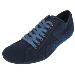 Chaussures-basses-toile-Redskins-Tempo-jeans-canvas-Bleu-26172-Neuf
