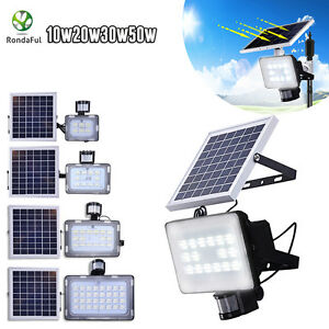 10W-20W-30W-50W-LED-Solar-Sensor-Light-Security-Garden-Flood-light-Street-Lamp