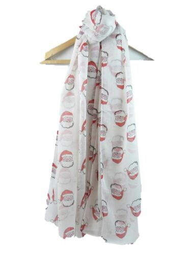 New Design Santa Claus Father Christmas Scarf Festive Design Superb Soft Quality