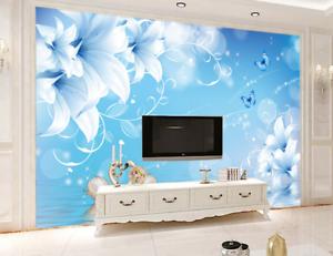 3D bluee Swans Lake 88 Wall Paper Murals Wall Print Wall Wallpaper Mural AU Kyra