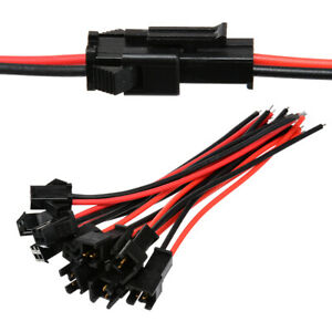 10-Pair-2Pin-Male-amp-Female-Plug-Terminal-Connector-Cable-Wire-Power-LED-Light-TOP