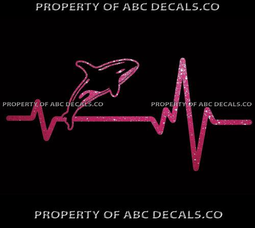 Vrs Herz Beat Line Killer Wal Ocean Orca Delphin Mammal Sprung Auto Metall Decal