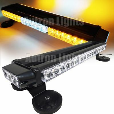 "21/"" 42W LED Traffic Advisor Warning Emergency Flash Roof Strobe Light Bar Amber"