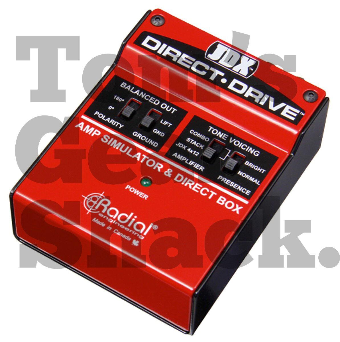 Radial Direct Drive Amp Simulator   DI Box Active Guitar Amp Direct Box NEU