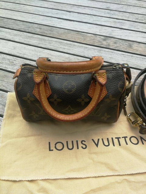 Clutch, Louis Vuitton, kanvas, Vuitton, Speedy mini, fra…