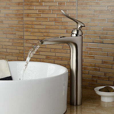 12 Quot Waterfall Bathroom Faucet Chrome Brushed Nickel Oil Rubbed Bronze Vessel Tap Ebay