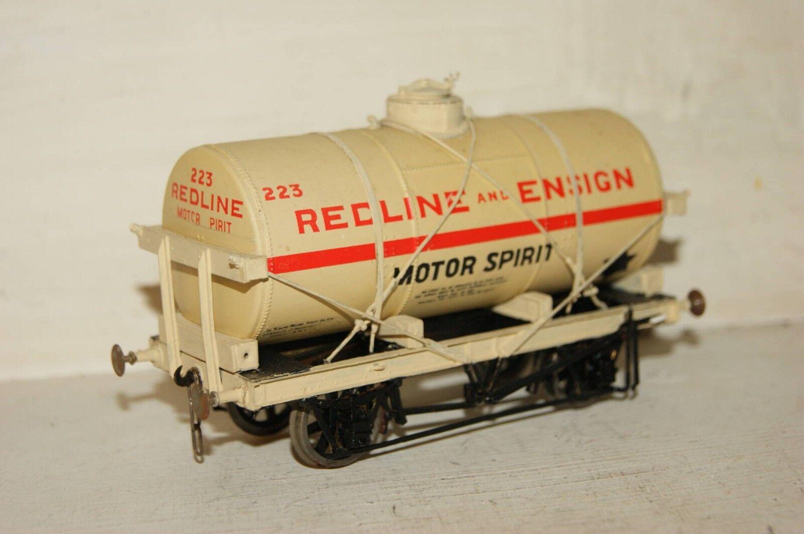 O gauge 7mm FINESCALE Slaters Redline Ensign Tanker Tank Wagon KITBUILT