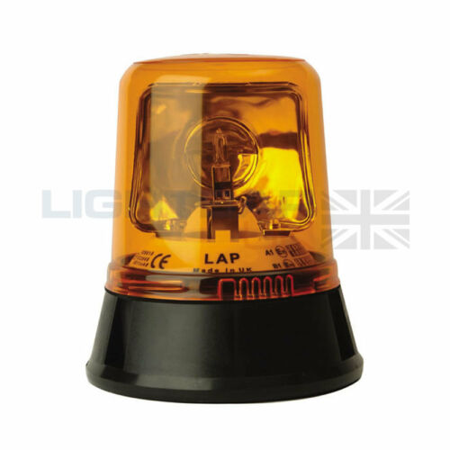 Three Bolt LAP Agriculture Tractor Emergency Rotating Flashing Amber Beacon R65