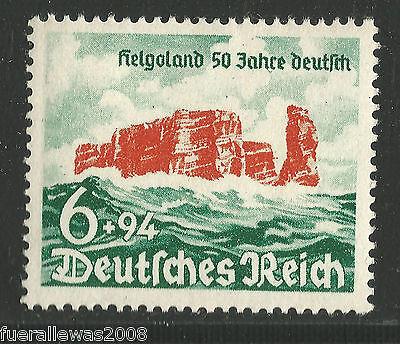 Deutsches Reich MiNr. 750 ** Helgoland aus Bogentrennung WW2 2nd WW IIWW