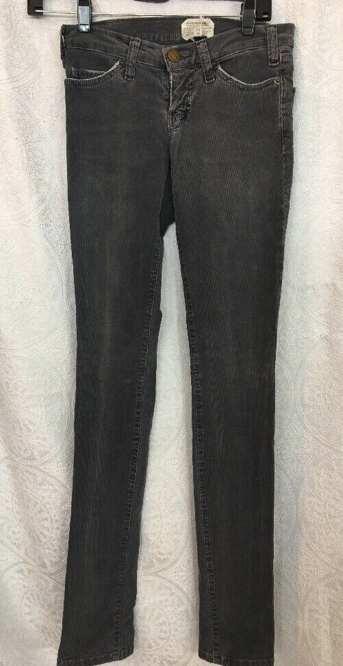 Current Elliott Corduroy Jeans The Skinny Stretchy Dark Charcoal color Size 23