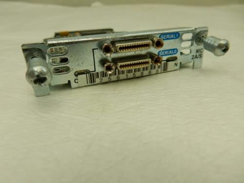 Cisco 2 Port Serial WIC-2A//S Wan Interface Card 800-03182-01