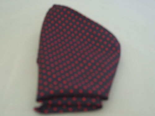 "SILK Black with Burgundy Polka Dots-Necktie /& Hanky Set-TIES-3.5/""=9cm Width 004"