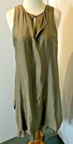 Brunello Cucinelli Taupe Sleeveless Silk Two-Piece