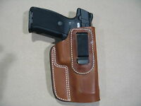 Ruger Sr9, Sr40, Sr45, 9e Iwb Leather In Waistband Concealed Carry Holster Tan R