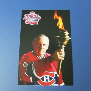 MAURICE-RICHARD-Montreal-Canadiens-postcard-Hall-of-Fame-Loto-Quebec-TORCH