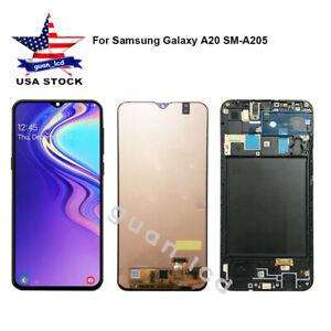 For Samsung Galaxy A20 Sm A205u Lcd Display Touch Digitizer Assembly Frame Ca Ebay