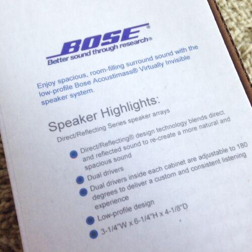 Bose Double Cube Speaker MINT DoubleShot Lifestyle Acoustimass White Beautiful!