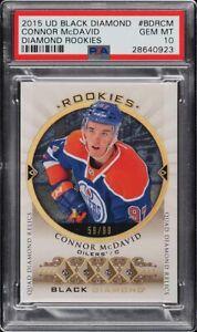 2015 UD Black DIAMOND Hockey Connor McDavid RC Rookie /99 PSA 10 SUPER HIGH END
