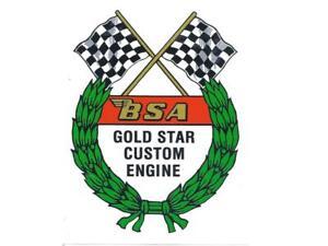 BSA Goldstar Tank Transfer Decal Vinyl Cut Transfer