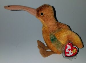 TY Beak Beanie Babies Brown Bird Plush Bean Bag Stuffed Animal Toy ... 1a01d889e2d