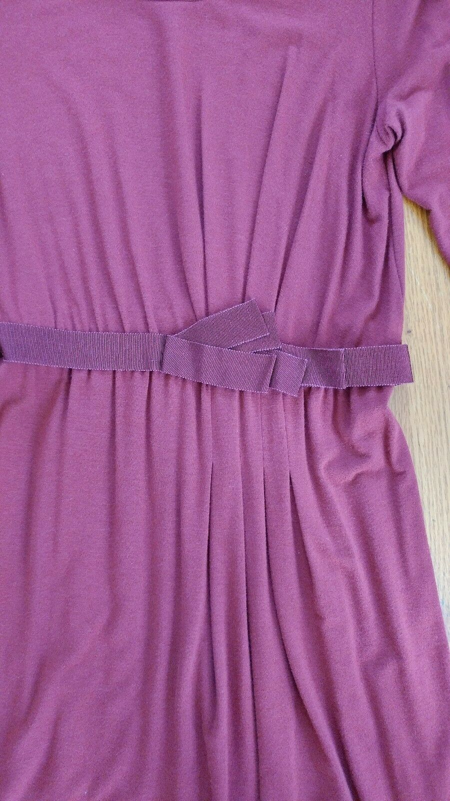 Max Mara Dress M 4 6 6 6 Jersey Bordeaux Purple Red a58dd8