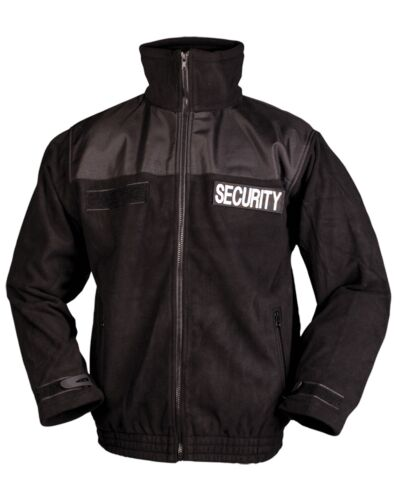 Mil-Tec Fleece-Jacke Security Securityjacke Anorak Einsatzjacke Schwarz S-3XL