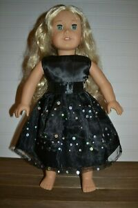 18/'/' Dolls Shoes Black Sequins Party Dance Shoes for AG American Doll Doll Accs