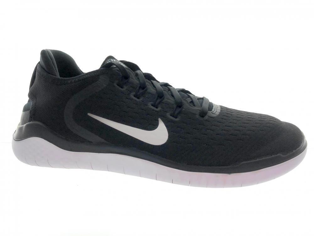 Men's Nike Free RN 2018 Running Shoes 942836-001 Black White